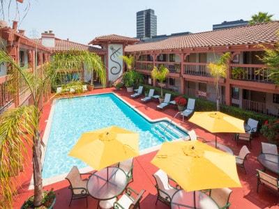 Campbell Inn Pool Deck